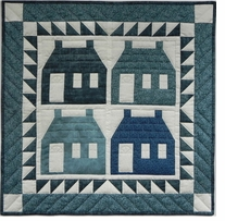 Houses Quilt Kit 22in x 22in