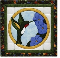 Hummingbird Quilt Magic Kit 12inX12in