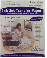 Ink Jet Transfer Paper 3 Sheets