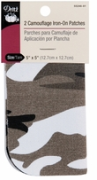 Iron-On Camouflage Patches Camo Gray