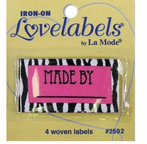 Iron-On Lovelabels Made By Zebra 4/Pkg