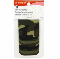 Iron-On Patches Camouflage 2inx3in 10/Pkg