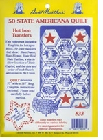 Iron-On Transfer Collections 50 State Americana Quilt