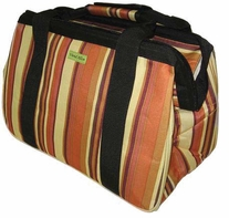 JanetBasket Eco Bag Brown Stripes