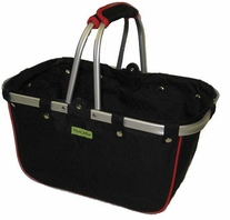 JanetBasket Large Aluminum Frame Bag Black,Red