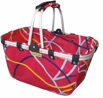 JanetBasket Ribbons Large Aluminum Frame Bag