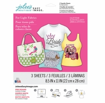 Jolee's Easy Image Transfer Sheets Glitter For Light Fabrics 8.5inx11in