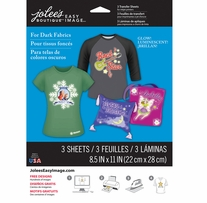 Jolee's Easy Image Transfer Sheets Glow-In-The-Dark For Dark Fabrics 8.5inx11in