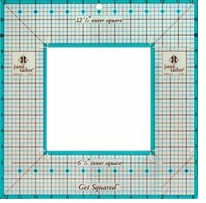 June Tailor Rulers Get Squared 12-1/2in Outer 6-1/2in Inner Square