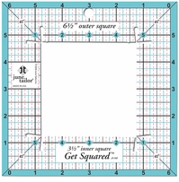 June Tailor Rulers Get Squared 6-1/2in Outer 3-1/2in Inner