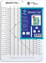 June Tailor Rulers Quarter Cut 1/4in Cut Ruler With 45 Degree Angle