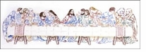 Last Supper Stamped Embroidery Kit