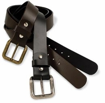 Leather Belt Blank Black