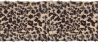 Leopard Fur Trim 4in Wide 6 Yards Multi