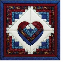 Log Cabin Heart Quilt Magic Kit