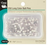 Long Color Ball Pins Size 24