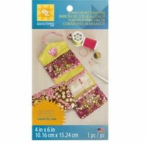 Long Heart Template 4inx6in 1/Pkg