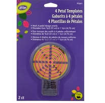 LoRan Petal Template Small 2/Pkg