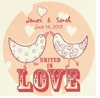 Love Birds Wedding Record Crewel Embroidery Kit