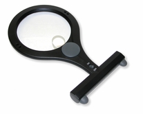 LumiCraft 2x Hands-Free Lighted Magnifier with 4x Spot Lens