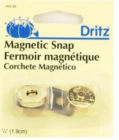 Magnetic Snaps 3/4in Gilt