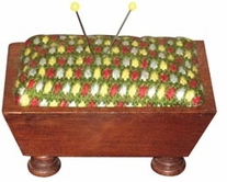 Mahogany Vintage Pincushion