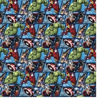 Marvel Comics Avenger Grid 43/44inX15yds 100% Cotton D/R