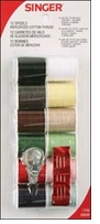 Mercerized Cotton Thread Assortment Light and Dark Shades