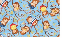 Monkey Business Monkey Toss 43/44in Wide 100% Cotton D/R