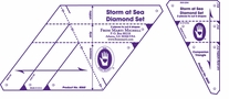 Multi-Sized Diamond Template Set-Storm At Sea