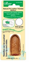 Natural Fit Leather Thimble Medium