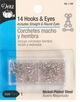 Nickel Hooks and Eyes Size 1