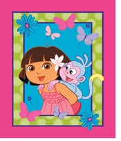 Nickelodeon Dora the Explorer Dora & Boots Panel 43/44inX15yds D/R