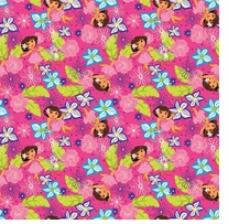 Nickelodeon Dora the Explorer Hawaiian Dora 43/44inX15yds D/R