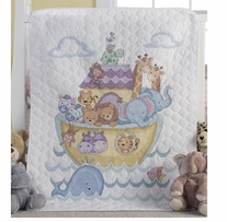 Noah's Ark Crib Cover Stamped Cross Stitch Kit #45939