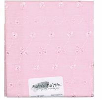 Novelty and Quilt Fabric Pre-Cut Pink Eyelet