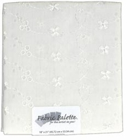 Novelty and Quilt Fabric Pre-Cut White Eyelet #171
