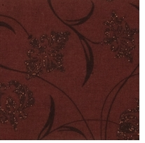 Novelty & Quilt Fabric Pre-Cut Brown Metallic