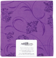 Novelty & Quilt Fabric Pre-Cut Purple Metallic