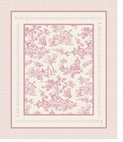 Nursery Rhyme Toile Panel Pink