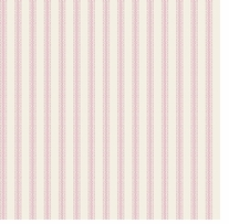 Nursery Rhyme Toile Ticking Stripe Pink