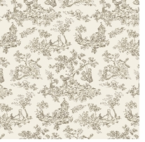 Nursery Rhyme Toile Children Beige Fabric