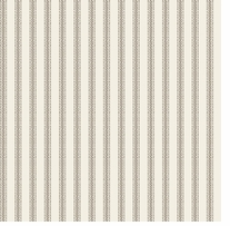 Nursery Rhyme Toile Ticking Stripe Beige Fabric