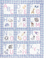 Nursery Themed Stamped Quilt Blocks