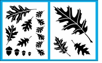 Oak Leaves Stencil Set