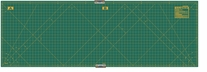 Olfa Gridded Cutting Mat Set 23inX70in With Clips Green