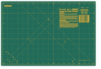 Olfa Grided Cutting Mat 12inX18in Green