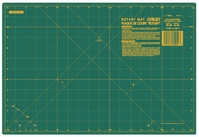 Olfa Grided Cutting Mat 12inX18in Green - Click to enlarge