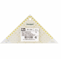 Omnigrid Metric Right Triangle Quilter's Ruler 1/2in Square