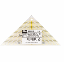 Omnigrid Metric Right Triangle Quilter's Ruler 1/4in Square